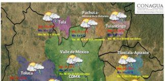 Esperan fuertes lluvias con granizo en el Valle de México
