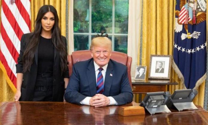 Donald Trump recibió a Kim Kardashian en la Casa Blanca